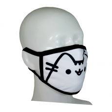 FACE MASK 4PLY EAR LOOP ACTIVE SILVER IONS PUSHEEN CAT CLASSIC WHITE