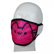 FACE MASK 4PLY EAR LOOP ACTIVE SILVER IONS PUSHEEN CAT CLASSIC PINK
