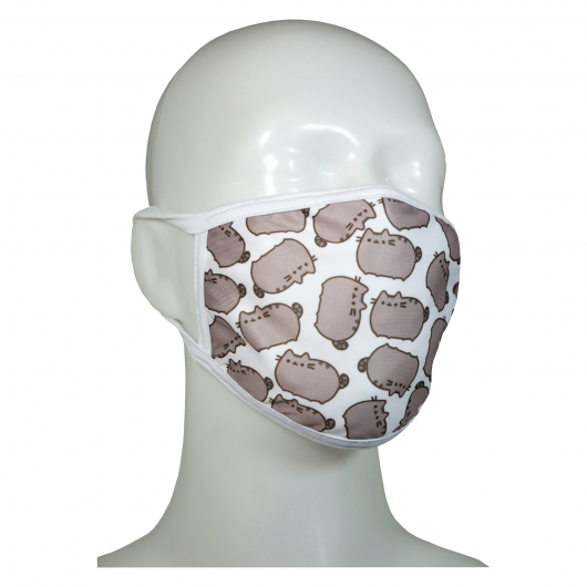FACE MASK 4PLY EAR LOOP ACTIVE SILVER IONS CLASSIC CATS GREY