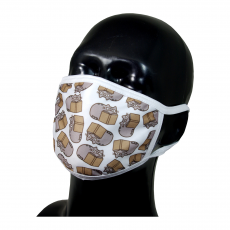 FACE MASK 4PLY EAR LOOP ACTIVE SILVER IONS PUSHEEN CAT BOOK
