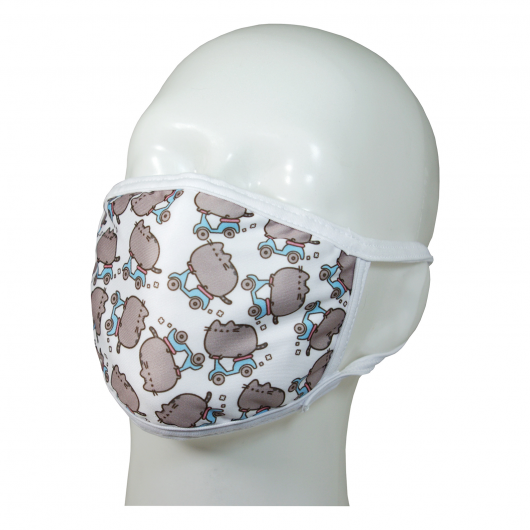 FACE MASK 4PLY EAR LOOP ACTIVE SILVER IONS PUSHEEN CATS TO SCOOTER