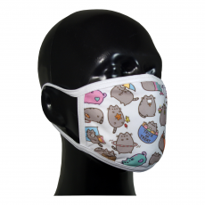 FACE MASK 4PLY EAR LOOP ACTIVE SILVER IONS PUSHEEN CAT TRICK OR TREAT
