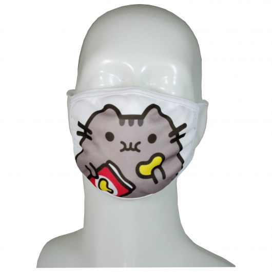 FACE MASK 4PLY EAR LOOP ACTIVE SILVER IONS PUSHEEN WITH CHIPS