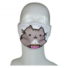 FACE MASK 4PLY EAR LOOP ACTIVE SILVER IONS PUSHEEN WITH MUFFIN