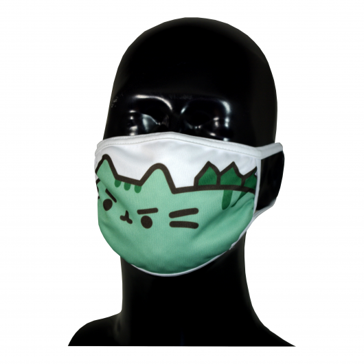 FACE MASK 4PLY EAR LOOP ACTIVE SILVER IONS PUSHEEN DINOSAURS