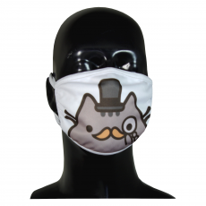 FACE MASK 4PLY EAR LOOP ACTIVE SILVER IONS PUSHEEN IN MELONIK