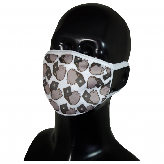 FACE MASK 4PLY EAR LOOP ACTIVE SILVER IONS CATS WITH LAPTOP