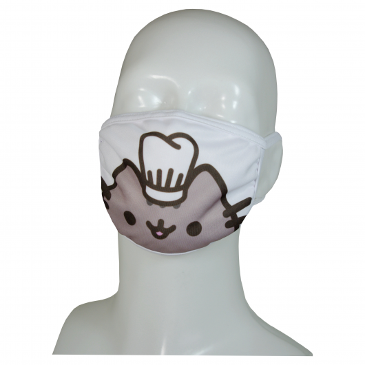 FACE MASK 4PLY EAR LOOP ACTIVE SILVER IONS CAT COOK