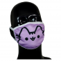 FACE MASK 4PLY EAR LOOP ACTIVE SILVER IONS LAVENDER CAT