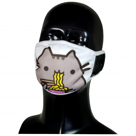 FACE MASK 4PLY EAR LOOP ACTIVE SILVER IONS CAT WITH PASTA