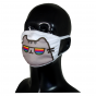 FACE MASK 4PLY EAR LOOP ACTIVE SILVER IONS CAT IN RAINBOW GLASSES