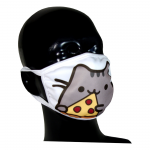 FACE MASK 4PLY EAR LOOP ACTIVE SILVER IONS CAT WITH PIZZA PEPPERONI