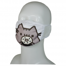 FACE MASK 4PLY EAR LOOP ACTIVE SILVER IONS CAT WITH OREO COOKIES