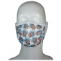 FACE MASK 4PLY EAR LOOP ACTIVE SILVER IONS CATS ON A BLUE PILLOW