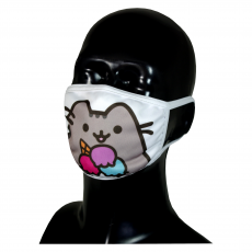 FACE MASK 4PLY EAR LOOP ACTIVE SILVER IONS CAT WITH ICE CREAM
