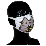 FACE MASK 4PLY EAR LOOP ACTIVE SILVER IONS CAT WITH SUSHI