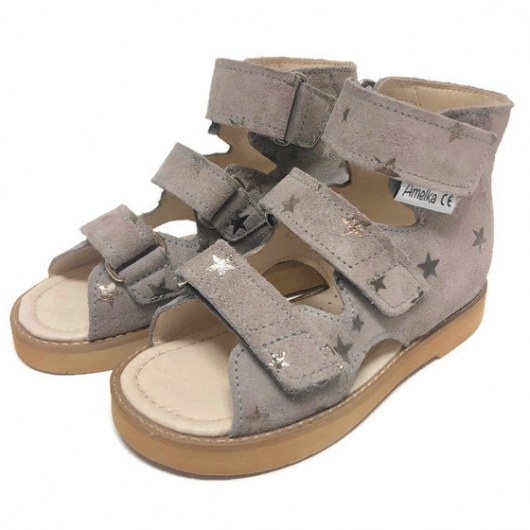 PREVENTIVE AND CORRECTIVE FOOTWEAR AMELKA 1010 GRAY STARS