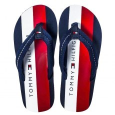 TOMMY HILFIGER GLOBAL STRIPES PRINT FLIP FLOP