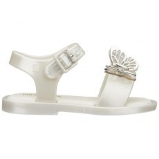 MINI MELISSA MAR SANDAL FLY 32746 WHITE/SILVER