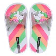 KLAPKI BASENOWE IPANEMA URBAN SLIDE KIDS WHITE/CLEAR GLITTER