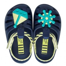 SANDALY PLAZOWE IPANEMA SUMMER VII BABY BLUE/YELLOW