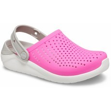 CROCS LITERIDE CLOG ELECTRIC PINK/WHITE 204592-6QV