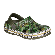 KIDS' CLOGS COQUI LINDO ARMY GREEN CAMO