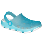 KIDS' CLOGS COQUI JUMPER FLUO TURQUOISE/WHITE