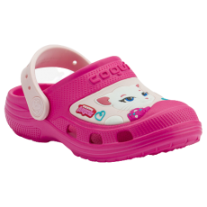 KIDS' CLOGS COQUI MAXI TOM AND FRIENDS FUSCHIA/CANDY PINK