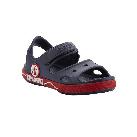 KIDS SANDALS COQUI YOGI NAVY/RED