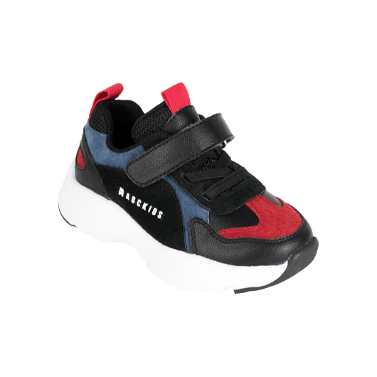 SHOES ABCKIDS SNEAKERS BLACK/BLUE/RED