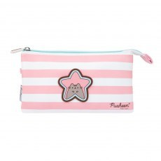 TRIPLE PENCIL CASE PUSHEEN ROSE COLLECTION