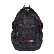 BACKPACK ST.RIGHT BP-01 3D BLACK ABSTRACTION