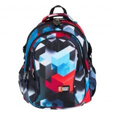 BACKPACK ST.RIGHT BP-01 RED 3D BLOCKS