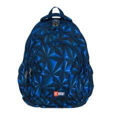 BACKPACK ST.RIGHT BP-02 3D NAVY ABSTRACTION