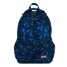BACKPACK ST.RIGHT BP-57 3D NAVY ABSTRACTION