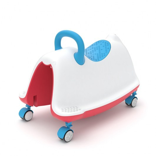 CHILLAFISH 4-IN-1 RIDEON ROCKER WALKER AND PLAY TRAIN TRACKIE BLUE RED MIX
