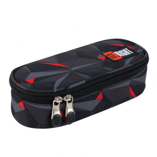 PENCIL CASE ST.RIGHT PC-01 3D BLACK ABSTRACTION