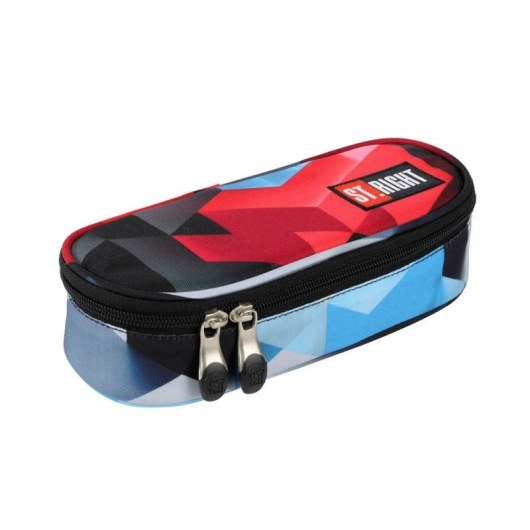 PENCIL CASE ST.RIGHT PC-01 RED 3D BLOCKS