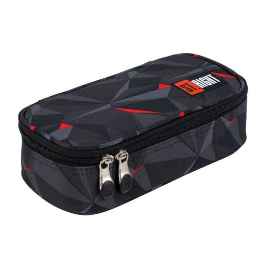 PENCIL CASE ST.RIGHT PC-02 3D BLACK ABSTRACTION