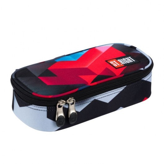 PENCIL CASE ST.RIGHT PC-02 RED 3D BLOCKS