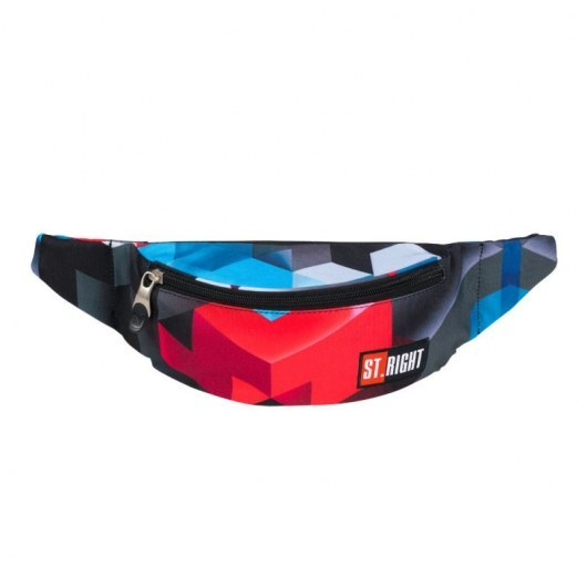 WAIST BAG ST.RIGHT WB-01 RED 3D BLOCKS