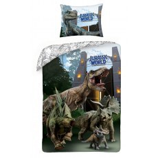 SINGLE DUVET SET 140 X 200 CM JURASSIC WORLD JW-259BL