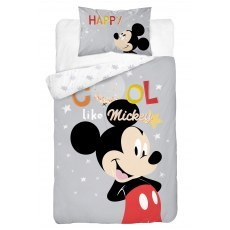 BABY BEDDING SET 100 X 135 CM MICKEY MOUSE MM03B
