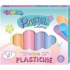 PLASTELINA COLORINO PASTEL 6 KOLOROW