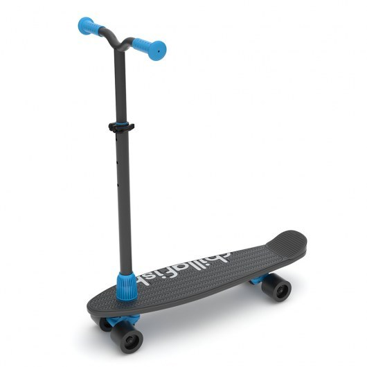 CHILLAFISH SKATIESKOOTIE FOUR-WHEELED CUSTOMISABLE SCOOTER AND SKATEBOARD IN ONE BLACK MIX