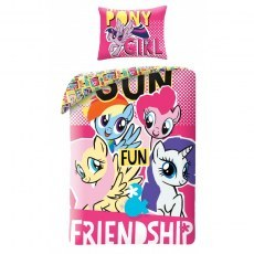 SINGLE DUVET SET 140 X 200 CM MY LITTLE PONY MLP-2003BL