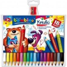 BAMBINO COLOURED PENCILS 18 COLOURS