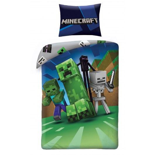 SINGLE DUVET SET 140 X 200 CM MINECRAFT LEGO MNC-199BL