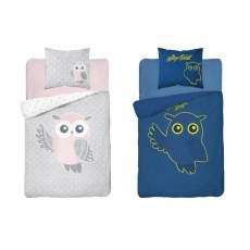 SINGLE DUVET SET 140 X 200 CM FLUO OWL